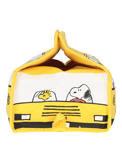 【SNOOPY】 ボックスティッシュカバー 詳細画像 イエロー 2