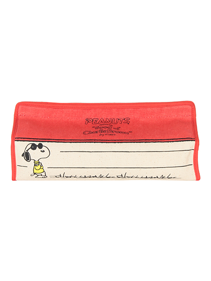 【SNOOPY】 ボックスティッシュカバー 詳細画像 レッド 1