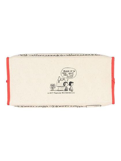 【SNOOPY】 ボックスティッシュカバー 詳細画像 レッド 5